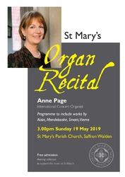 Organ Recital Anne Page 19 May